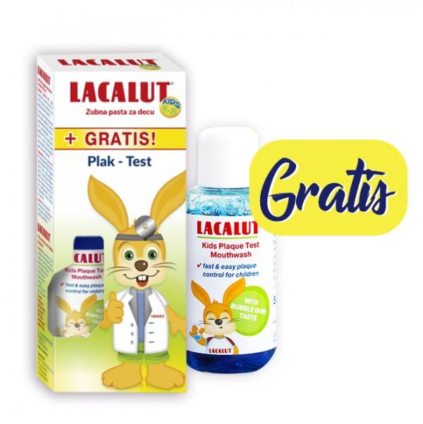 Lacalut dečija pasta za zube 4-8g.+Plak test GRATIS